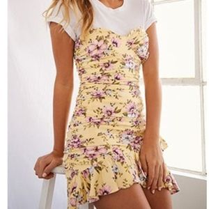Yellow Floral Dress from FOREVER21 💛